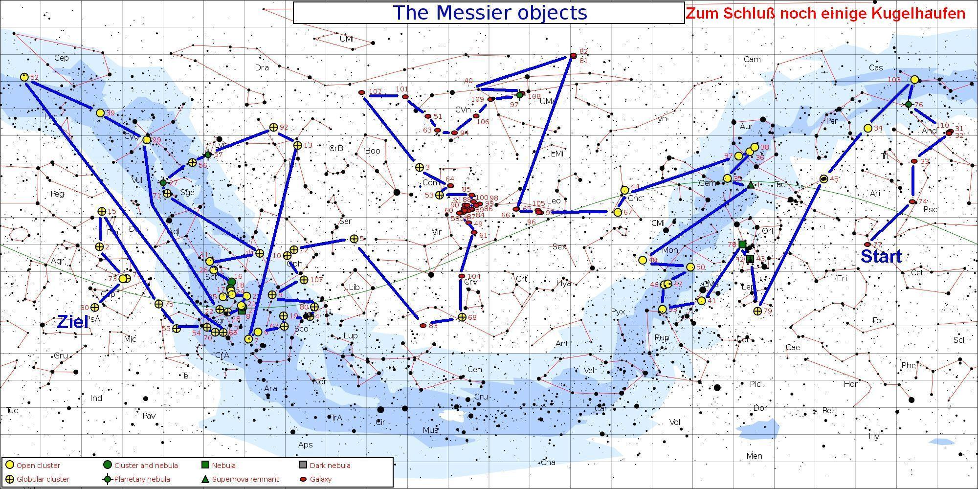 Messier Marathon plan